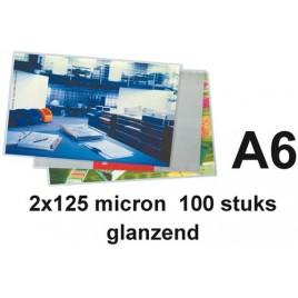 LAMINEERHOES GBC A4 2X75MICRON GLANS 25 STUK