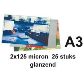 LAMINEERHOES GBC A3 2X125MICRON GLANS 25 STUK