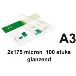 LAMINEERHOES GBC A3 2X125MICRON 100 STUK