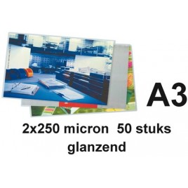 LAMINEERHOES GBC A3 2X250MICRON 50 STUK