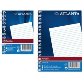 Notitieboek Atlanta 2206026000 A7 103x74mm met zijspiraal