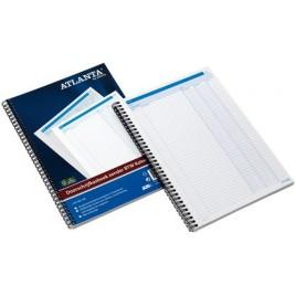 Kasboek Atlanta 2181072000 207x147mm met zijspiraal