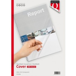 Voorblad Quantore A4 PVC 200micron transparant 100stuks