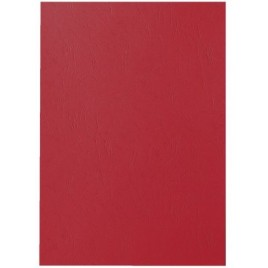 Voorblad GBC A4 lederlook rood 100stuks