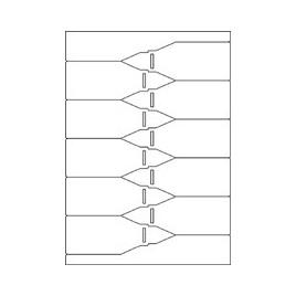 EXPERT - A4 - witte, matte, 6UP steeketiketten 260g/m2 - 195micron - 100 vel