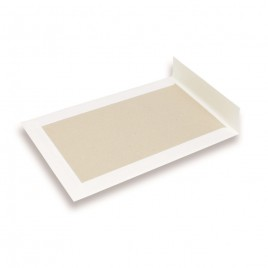 Verzendenvelop met kartonnen rug - 185x285 mm - 120 g/m2 - 100 st. - wit