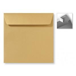Envelop Striplock 16 x 16  - Metallic Gold  - 120 GM - Rechte klep - Striplock