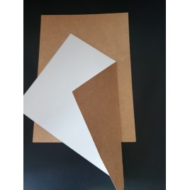 Kraftpapier/wit papier - A5 - 250 GM - 100 sheets