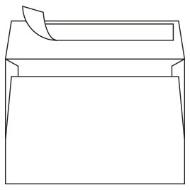 Rainbow envelop - Wit - 120 x 180 - 120 g/m2 - 500 st.