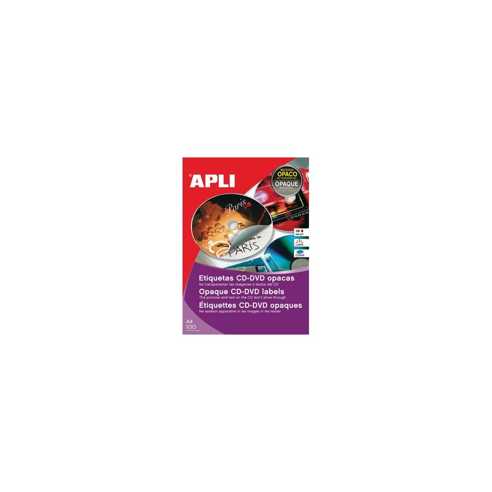 Apli etiketten voor cd dvd doos van 25 blad 50 etiketten for Apli etiketten