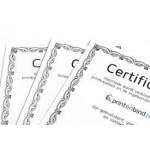 Certificaten papier